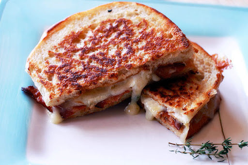 Bacon, brie & cranberry toasted sandwich