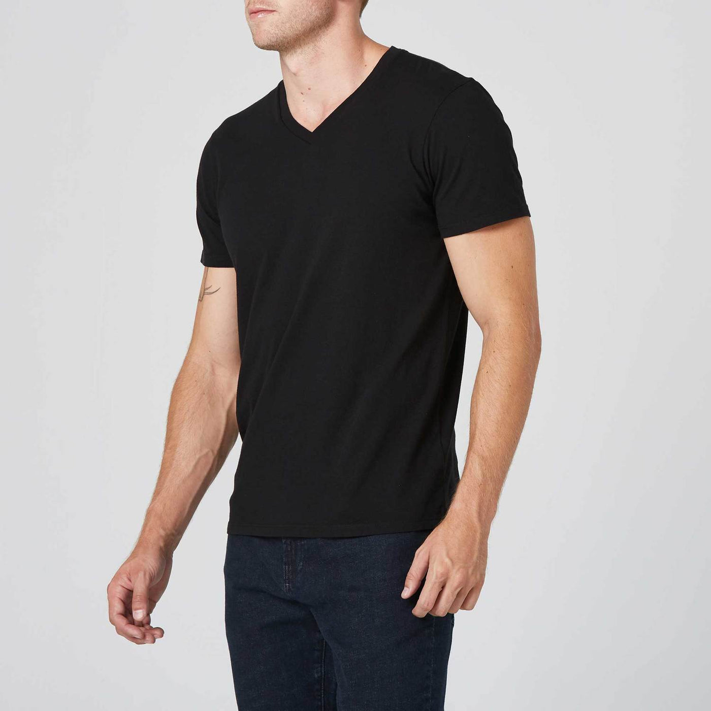 Mens V-Neck Tee - white
