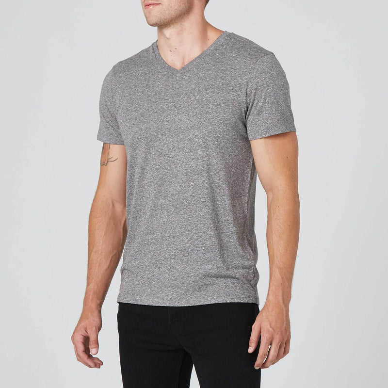 Mens V-Neck Tee - Heather Grey