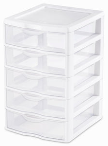 5 DRAWER UNIT SMALL WHITE