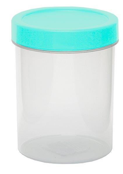 CQ ROUND CONTAINER 500 ML COLOURED LID