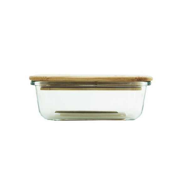 GLASS CONTAINER 640ML WITH BAMBOO LID