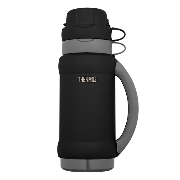 THERMOS DESIGNER FLASK 1LTR BLACK/GREY