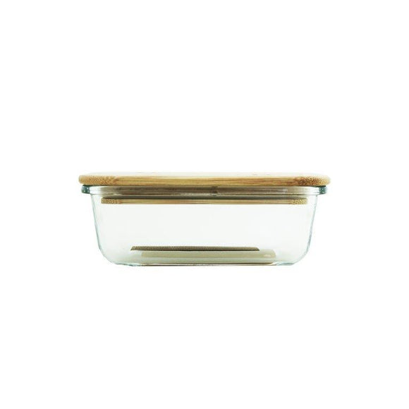 GLASS CONTAINER 370ML WITH BAMBOO LID