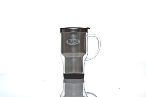 TRAVEL MUG W/HANDLE