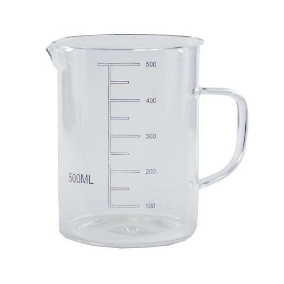KATES KITCHEN GLASSBEAKER W HANDLE 500ML