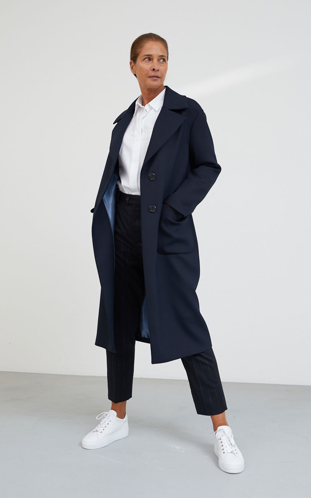 Navy design coat