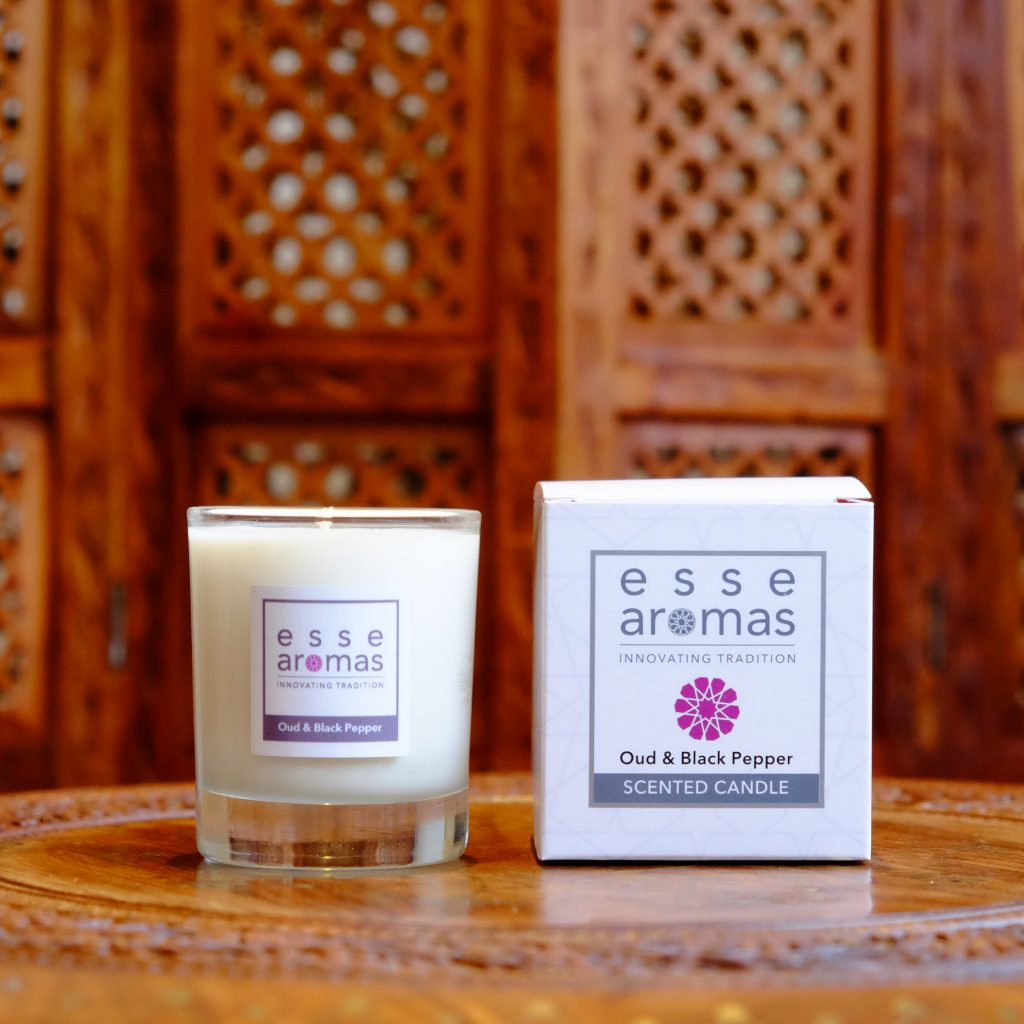 Scented Candle - Oud & Black Pepper