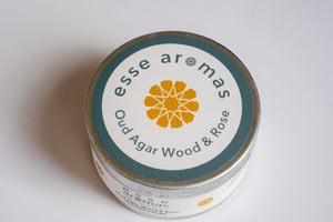 Scented Tin Candle - Oud Agar Wood & Rose