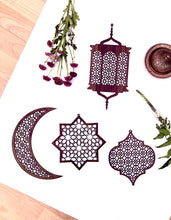 Load image into Gallery viewer, Geometric Laser Cut Hanging Ornament Pack