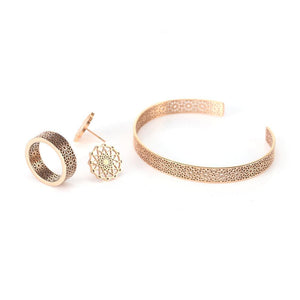 Trio Jewellery Gift Set - Rose Gold