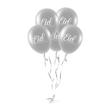 Load image into Gallery viewer, Navy & Silver Eid Mubarak Hanging Lantern Decoration Set