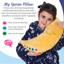 Load image into Gallery viewer, My Quran Moon Pillow - Yellow