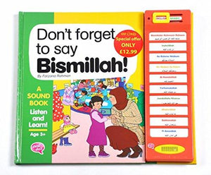 Don't Forget To Say Bismillah - Sound Book - Salam Occasions - Desi Doll Company