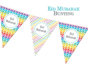 Eid Mubarak Bunting - Rainbow - Salam Occasions - Islamic Moments