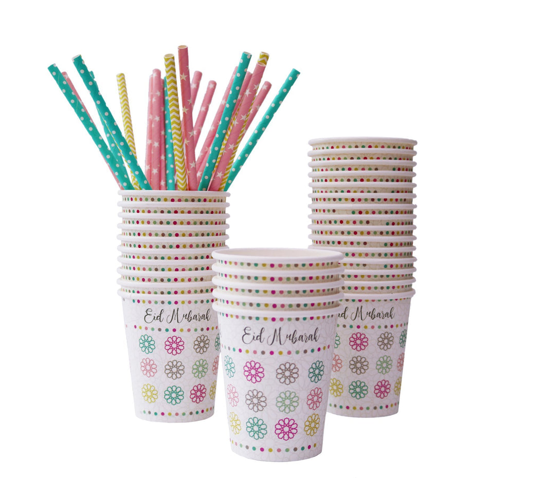 Eid Mubarak Party Cups - Pack of 5 - Salam Occasions - Islamic Moments