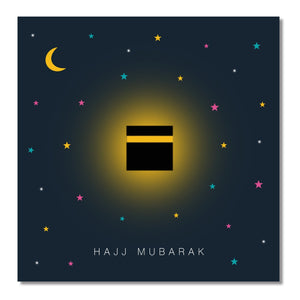 Hajj Mubarak Card - Midnight Kaaba - Salam Occasions - Islamic Moments