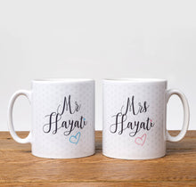 Load image into Gallery viewer, Mr Hayati and Mrs Hayati Mug Set - Salam Occasions - Islamic Moments