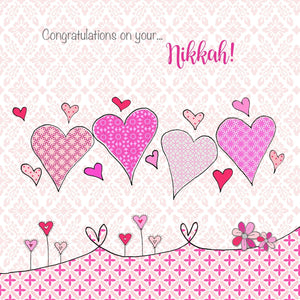 Nikkah Card - Love Hearts - Salam Occasions - Islamic Moments