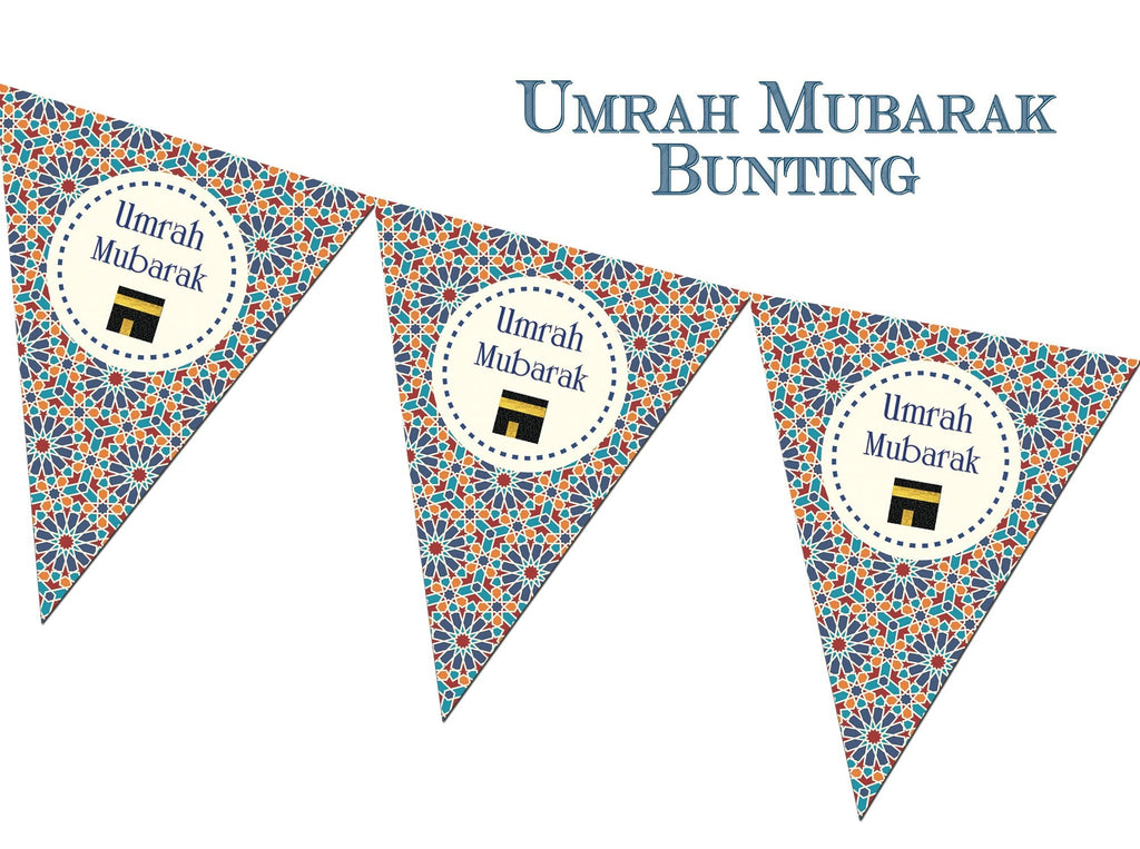Umrah Bunting - Geometric Zelige - Salam Occasions - Islamic Moments