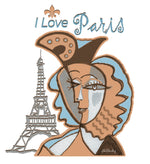 "Mug ""I Love Paris"" inspired by Picasso"