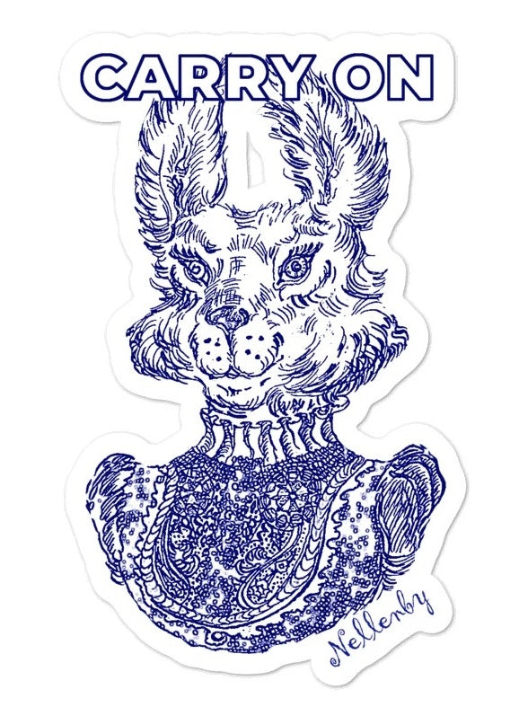 "Sticker ""Carry On"" from Mrs. Rabbit"