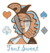 "Unisex Hoodie ""Tout Sweet"" Portrait inspired by Picasso"