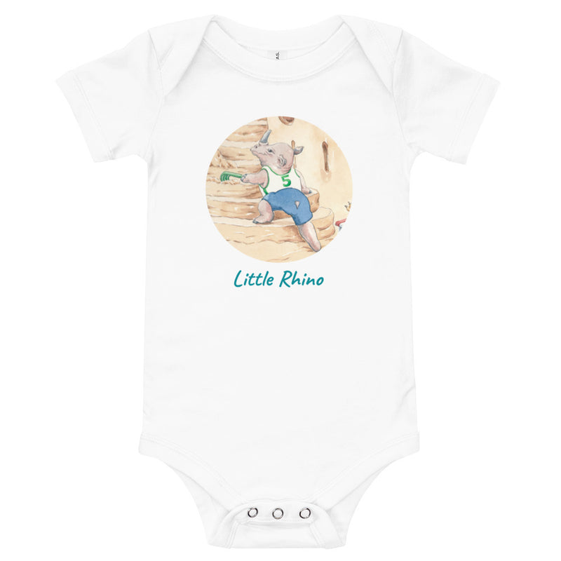 One piece for baby -  'Little Rhino' Inspired by Classics
