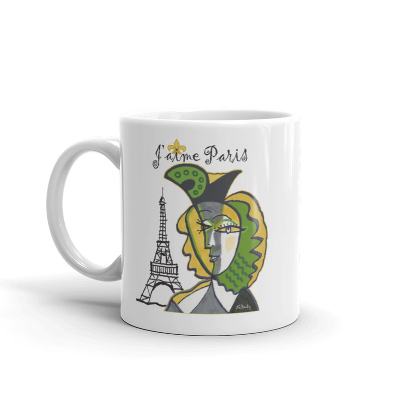 "Mug ""J'aime Paris"" inspired by Picasso"