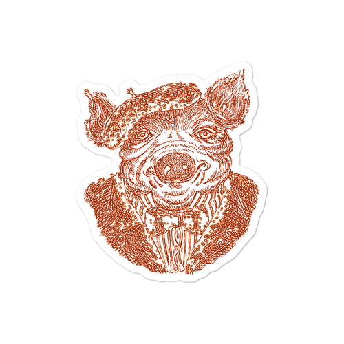 "Sticker ""Mr Pig"""