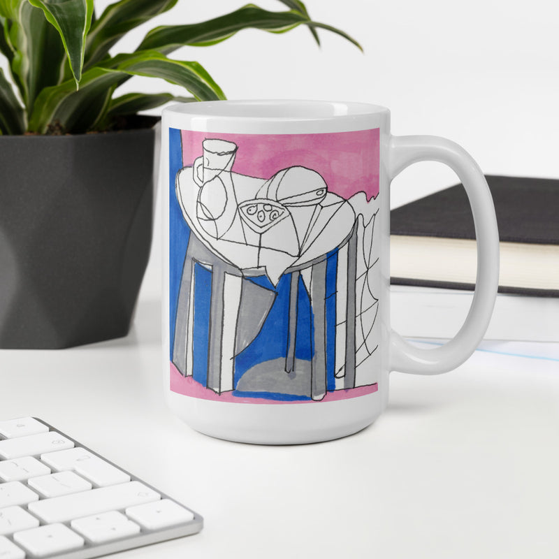 Mug with Still Life -Picasso inspired