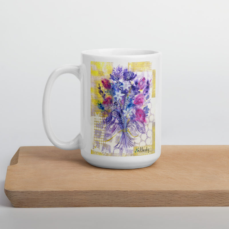 "Ceramic glossy Mug ""Poesy of Flowers"""