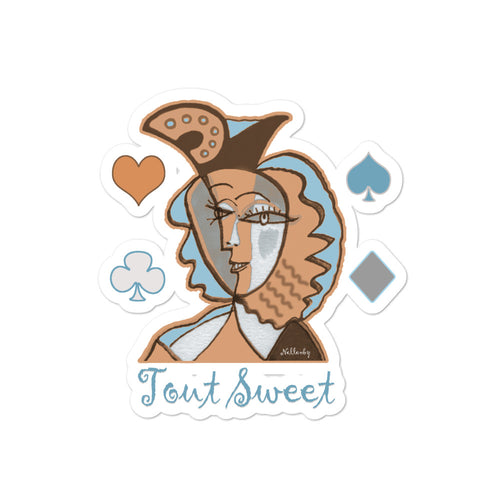 "Bubble-free stickers ""Tout Sweet"" inspired by Picasso"