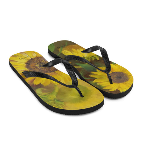 Flip-Flops with Sunflower design