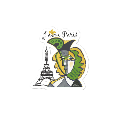"Bubble-free stickers ""J'aime Paris"""