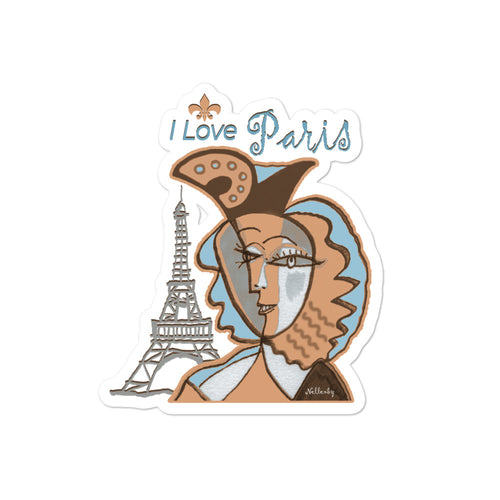 "Bubble-free stickers ""I Love Paris"""