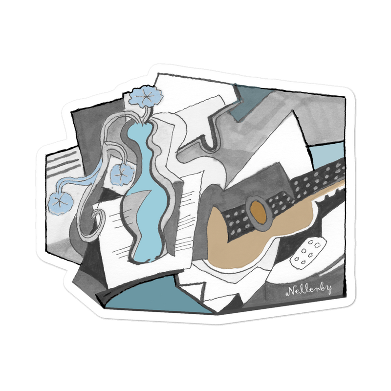 "Sticker ""Still life with Guitar"""
