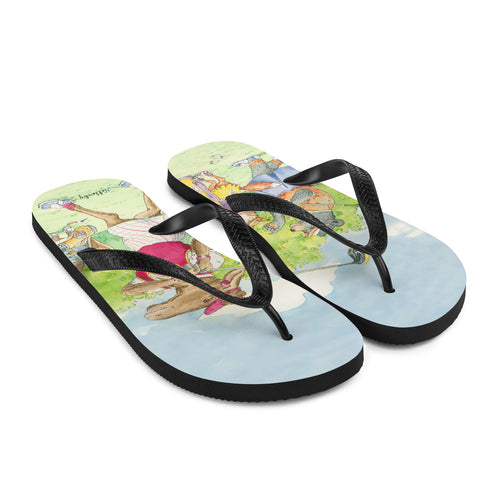 "Flip-Flops with Golf theme ""Gals on the Fairway"""