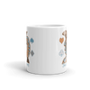 "Mug ""Tout Sweet"" in Tan and Blue"