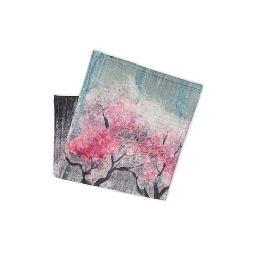 "Neck Gaiter ""Cherry Trees"" design"