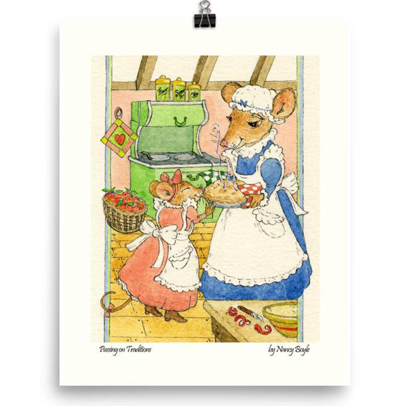 Children's room decor - Print 'Passing on Traditions'