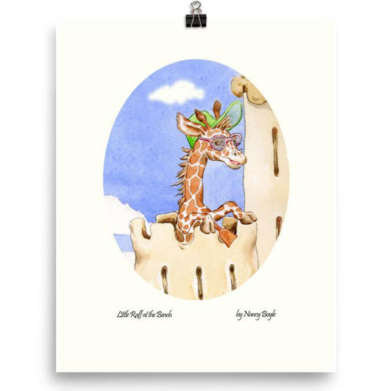 Children's room decor - Print 'Little Raff on the Beach'