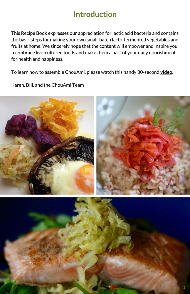 ChouAmi Recipe Book (Digital)
