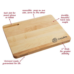 Chopping Board with Tech Slot (Maple Wood)