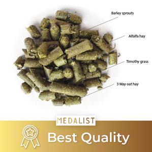 Best Quality: Our blend of sprout pellets was a medalist in best quality of pellet.
