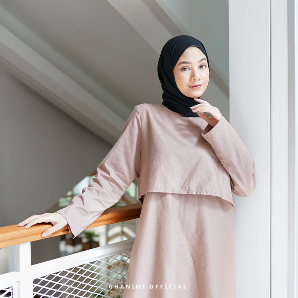 FAZIA MIDI DRESS ROSEWOOD