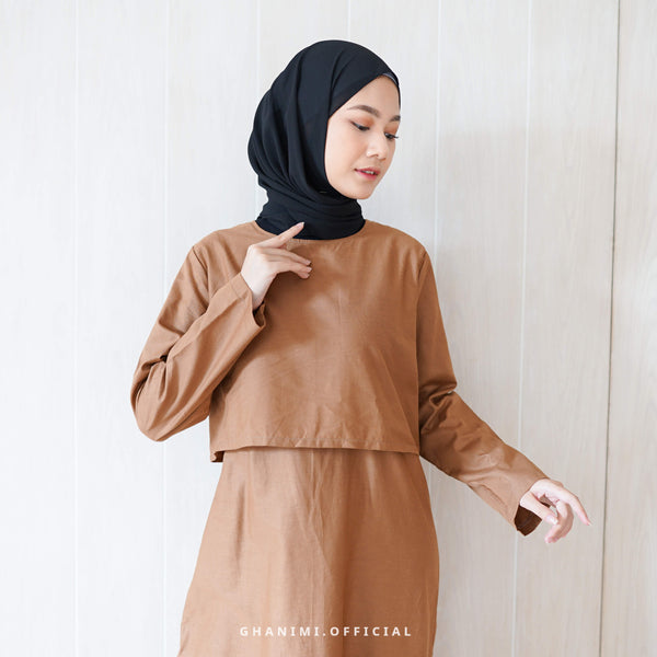FAZIA MIDI DRESS COFFEE