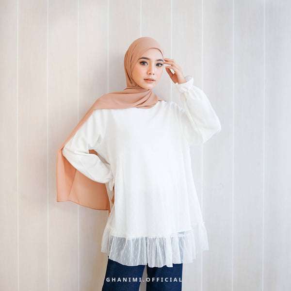 FREYA BLOUSE BROKEN WHITE