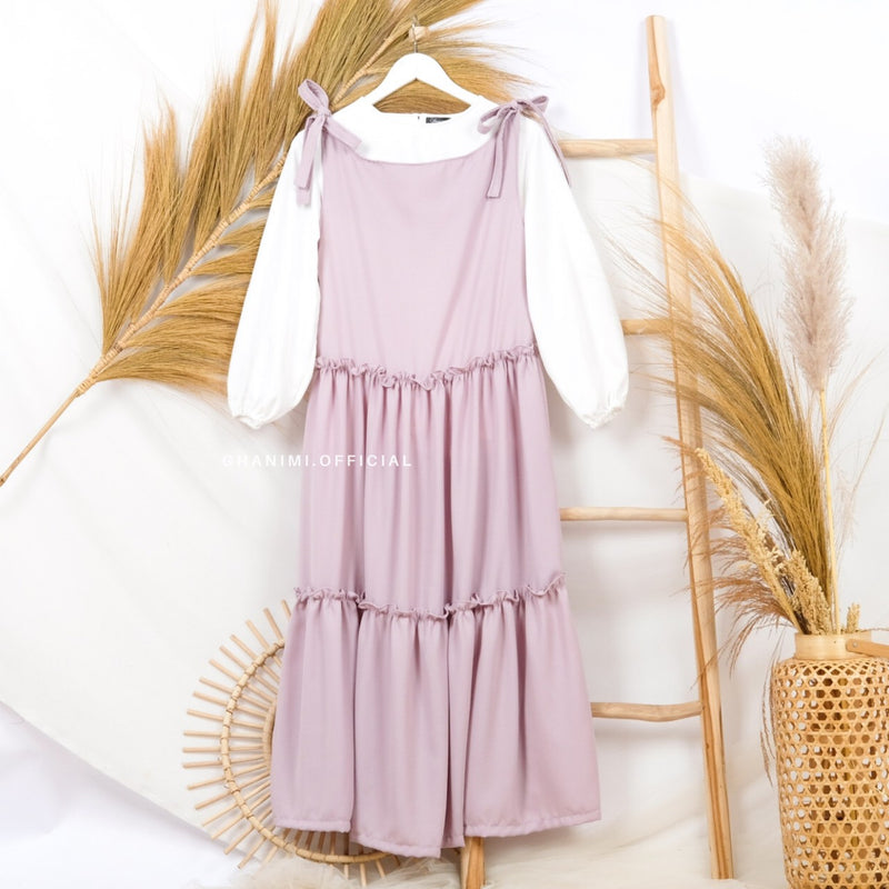 Liora Basic Dress Light Plum