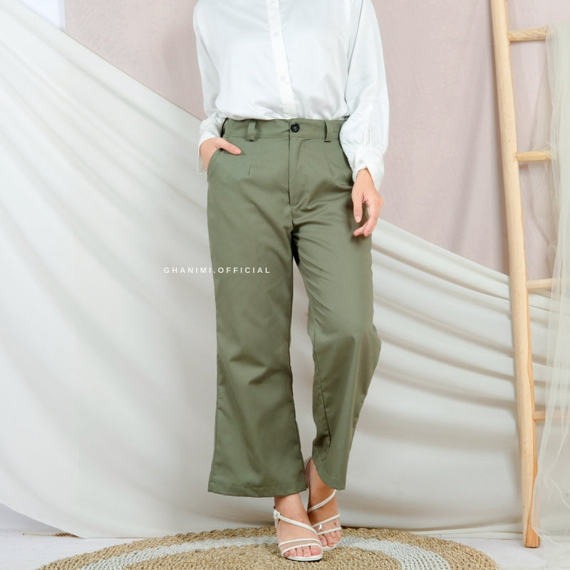 Meza Pants Basil Green